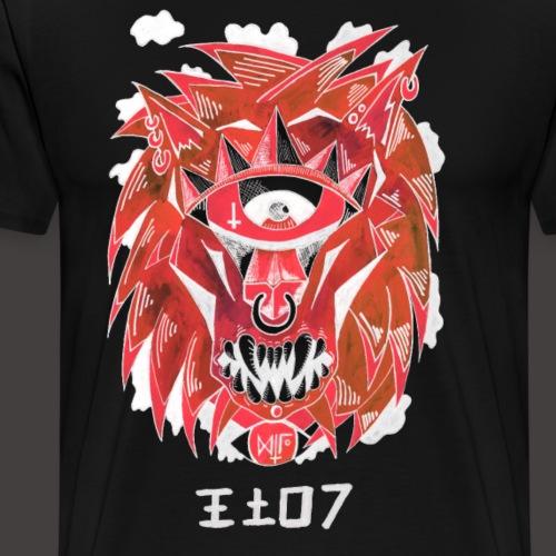 lion Négutif - T-shirt Premium Homme