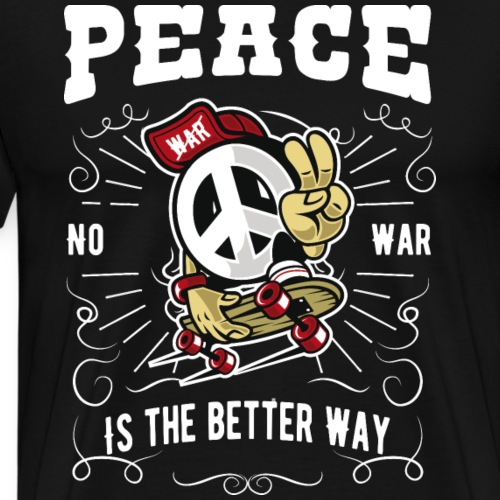 Peace no war - Männer Premium T-Shirt