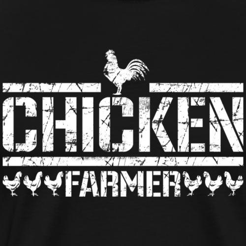 Huhn und Hahn - chicken farmer - Männer Premium T-Shirt