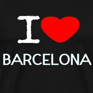 I LOVE BARCELONA - Premium T-skjorte for menn