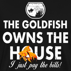 The goldfish is the boss funny sayings - Men's Premium T-Shirt