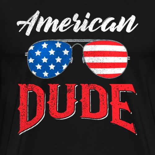 4th of July American Dude - Männer Premium T-Shirt