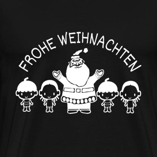 Weihnachtsmann-Kinder -Geschenk- Frohe Weihnachten - Männer Premium T-Shirt