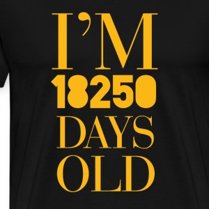 50th birthday: I'm 18250 Old Days - Men's Premium T-Shirt