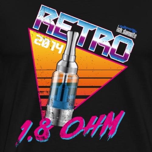 retro 1,8ohm - Männer Premium T-Shirt