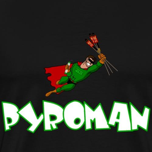 Pyro Man green Firework - Männer Premium T-Shirt