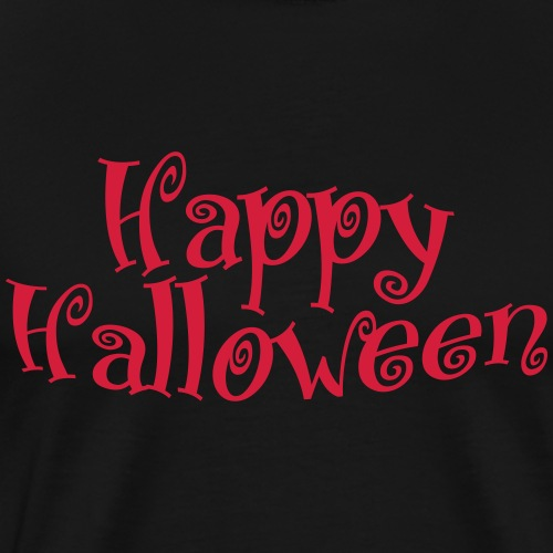 Happy Halloween Curly Schriftzug - Männer Premium T-Shirt