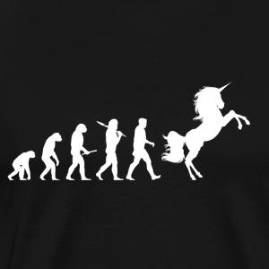 Evolution Unicorn - Männer Premium T-Shirt