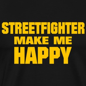 Streetfighter Make Me Happy - Men's Premium T-Shirt