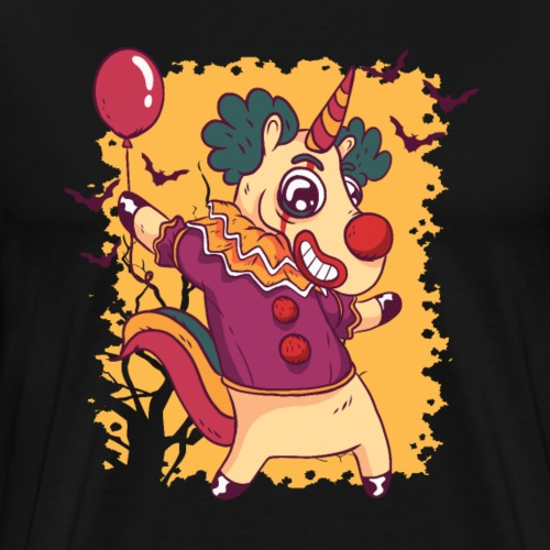 Unicorn clown, Halloween, Einhorn - Männer Premium T-Shirt