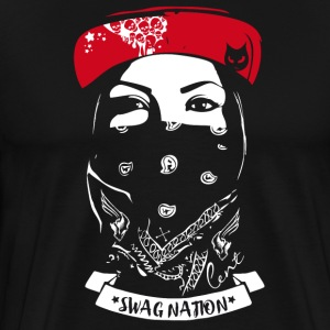 SWAG Nation refroidir Gangster Bandit Rapp rue chat - T-shirt Premium Homme