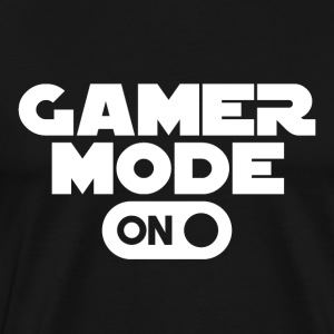 Gamer - Spelläge On - Premium-T-shirt herr