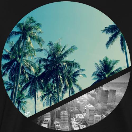 Strand und Stadt - Männer Premium T-Shirt