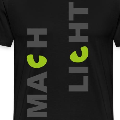 KatzenAugen (Licht-Edition) - Männer Premium T-Shirt