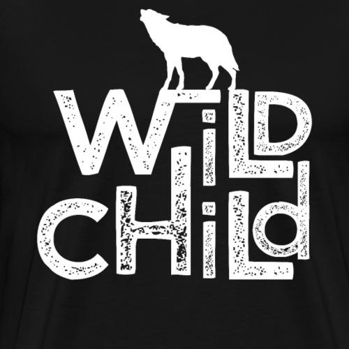 Wolf Abenteuer Kind Vintage Style - Männer Premium T-Shirt