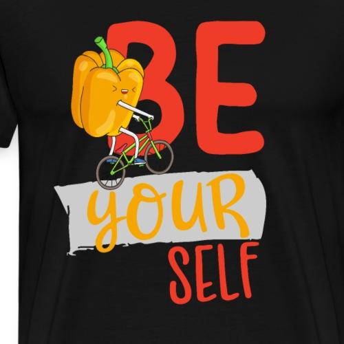 Einzigartig - Lustige Biker Paprika - Be yourself - Männer Premium T-Shirt