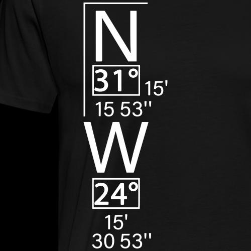 Atlantis Koordinaten - Männer Premium T-Shirt
