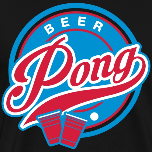Beer Pong 70s Stil - Männer Premium T-Shirt