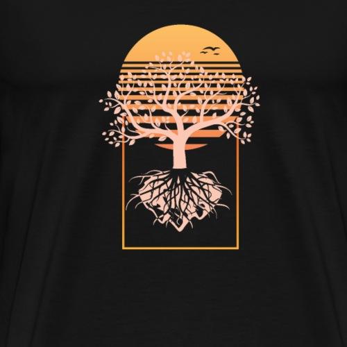 Baum mit Wurzeln - Männer Premium T-Shirt