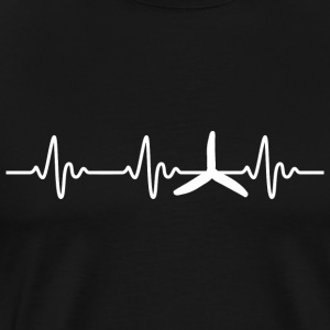 FPV - Quadrocopter Racing Heartbeat - T-shirt Premium Homme