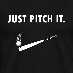Just pitch it Baseball Shirt - Männer Premium T-Shirt