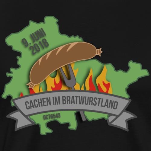 Cachen im Bratwurstland: Edition green - Männer Premium T-Shirt