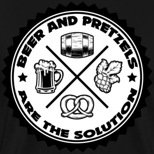 beer and pretzels - T-shirt Premium Homme