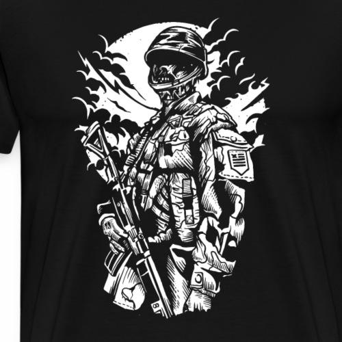 Zombie Soldier - Männer Premium T-Shirt