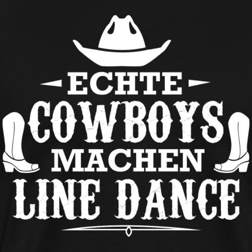 Line Dance Shirt - Linedance Country Cowboys - Männer Premium T-Shirt