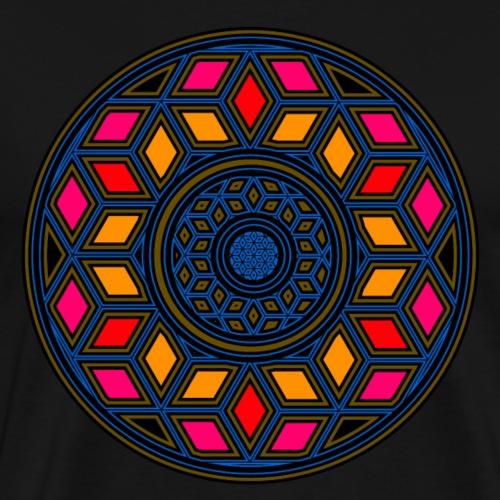 Goa - Psy - Würfel Design - Kreis - Yoga - Muster - Männer Premium T-Shirt
