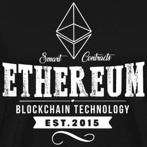 Ethereum vintage design - Herre premium T-shirt