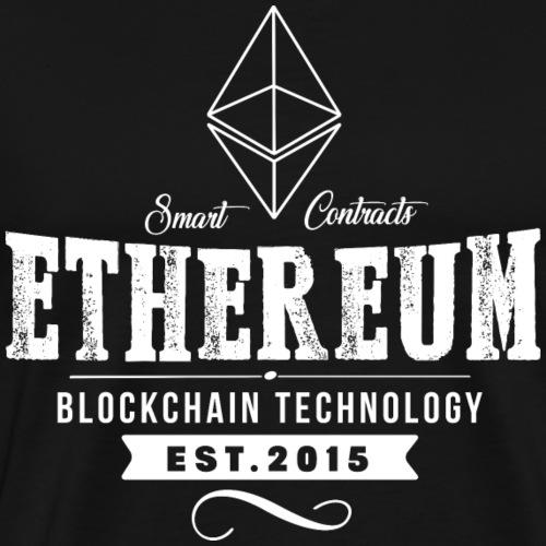 Ethereum vintage utforming - Premium T-skjorte for menn