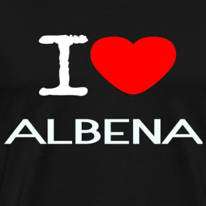 I LOVE ALBENA - Premium T-skjorte for menn