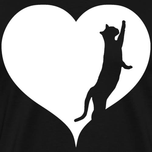 Herz Kätzchen - Männer Premium T-Shirt