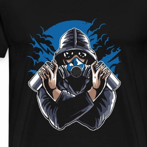 Graffiti Gasmask - Männer Premium T-Shirt