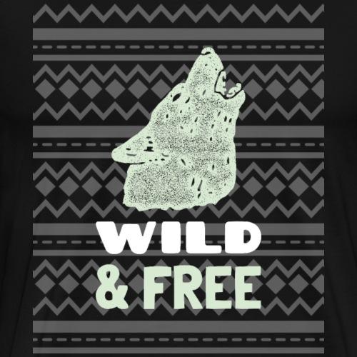 Wild und frei Shirt Wildnis Tees - Männer Premium T-Shirt