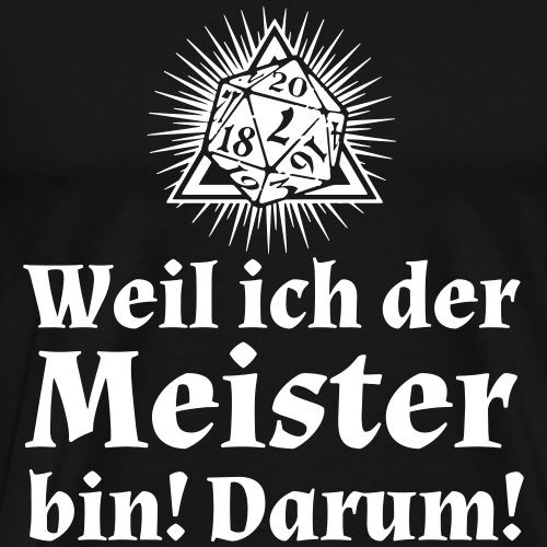 Rollenspiel Meister Gamemaster - Männer Premium T-Shirt