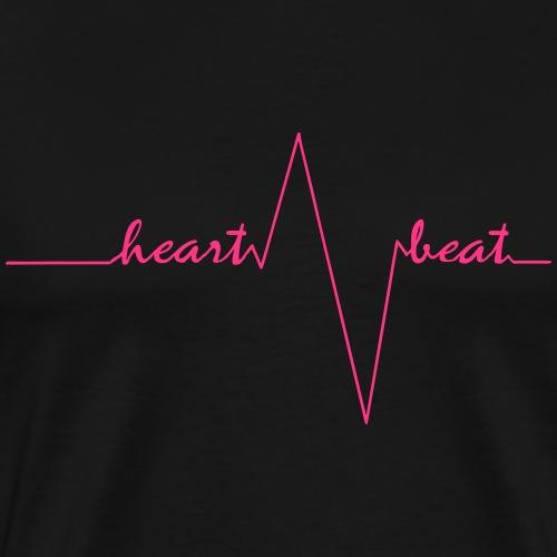 heartbeat pretty pink - Männer Premium T-Shirt