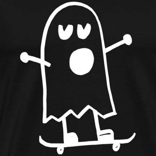 Lustiges Gespenst Skateboard Steinkrone - Männer Premium T-Shirt