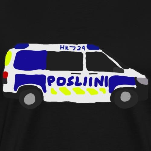 Posliini-Auto - Miesten premium t-paita