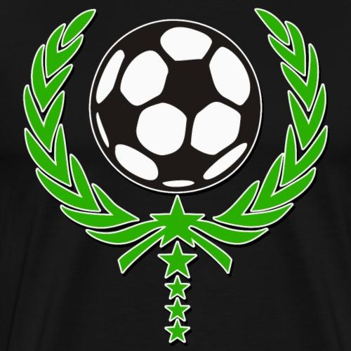 Fussball Lorbeerkranz 5 Sterne Team 2 - Männer Premium T-Shirt