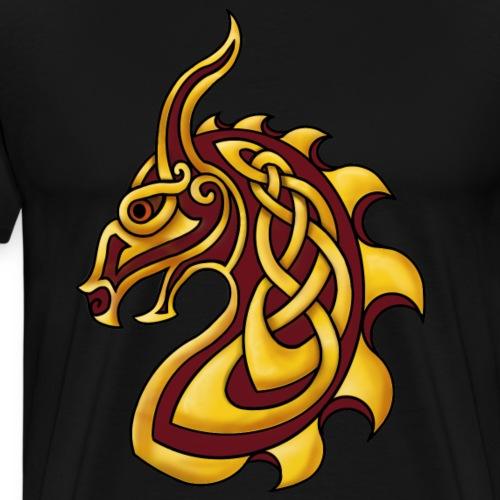 Celtic Dragon Red Gold - Men's Premium T-Shirt