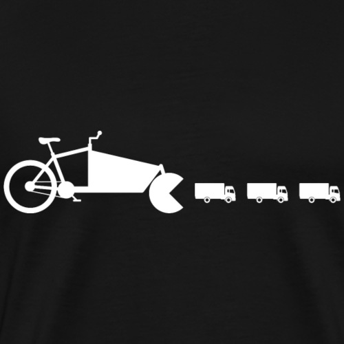Lastenrad LKW Pac Man weiss - Männer Premium T-Shirt