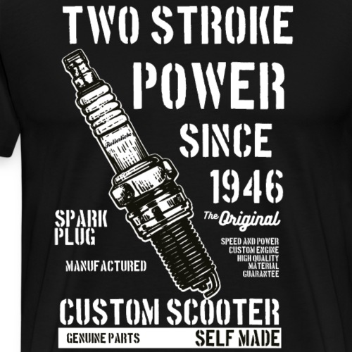 Two Stroke Power - Männer Premium T-Shirt