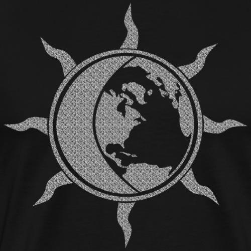 Sonne, Mond und Erde - Männer Premium T-Shirt
