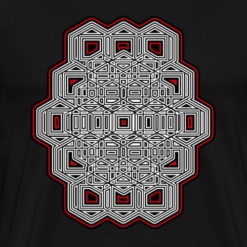 Geometrie T-Shirt - Techno - Abstrakt - Psy Muster - Männer Premium T-Shirt