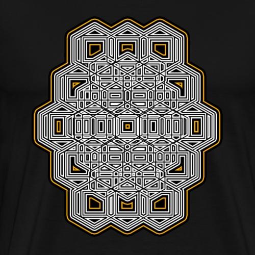 Abstrakt - Geometrie T-Shirt - Psy - Goa - Muster - Männer Premium T-Shirt