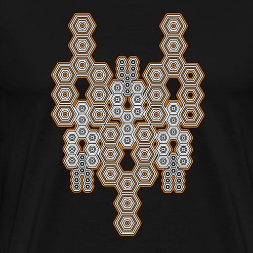 Geometrie Shirt Psychedelisch DMT Design Goa Party - Männer Premium T-Shirt