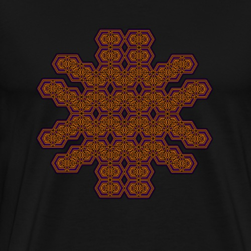 Psychedelisches Muster T Shirt Geometrie Goa Party - Männer Premium T-Shirt