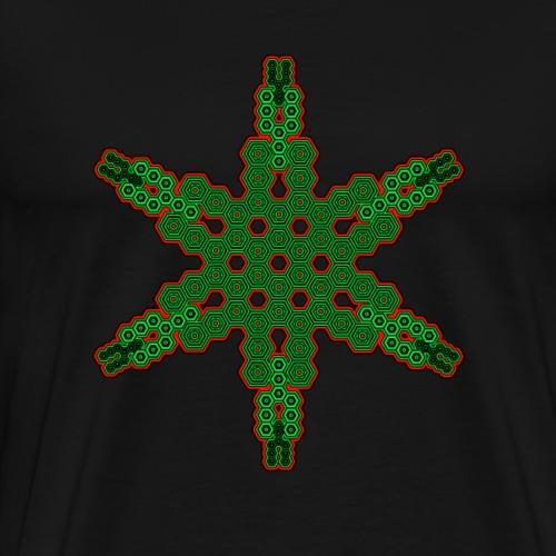 Mandala T Shirt Psychedelisch DMT Design Goa Party - Männer Premium T-Shirt